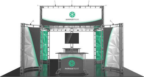 20'x20' Aarhus Truss Trade Show Kit. Make a statement at the next trade show or event!