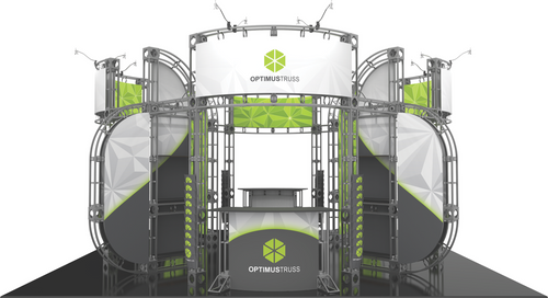 20'x20' Optimus Truss Trade Show Kit. Make a statement at the next trade show or event!