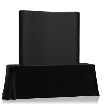6' EZ Table Top Velcro Trade Show Display - Black