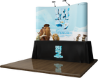 8' Curved Table Top Trade Show Display with Graphics