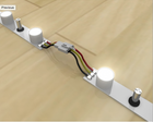 LED light strip for the 10' FireFly trade show display