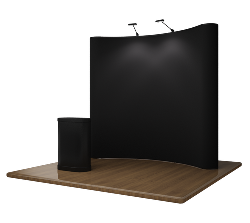 8' EZ Velcro Trade Show Display - Black