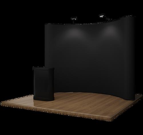 10' EZ Curved Velcro Trade Show Display - Black