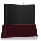 8' EZ Table Top Velcro Trade Show Display - Black