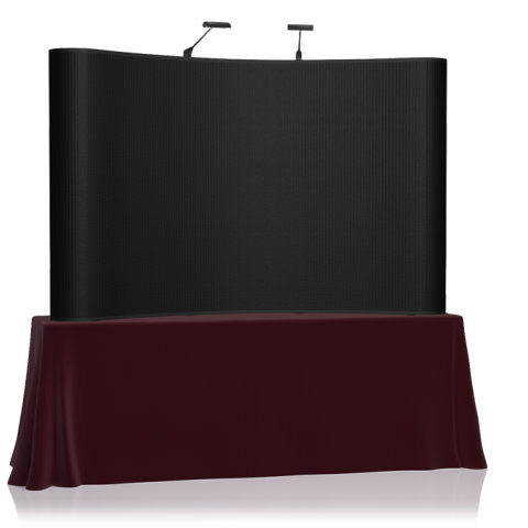 8' EZ Table Top Velcro Trade Show Display - Black