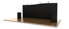 20' EZ Serpentine Trade Show Display - available in Black Velcro-Ready Fabric