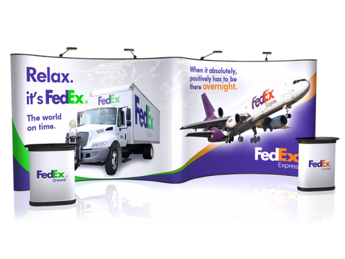 20' EZ Pop Up GullWing Trade Show Display with custom high-resolution graphics!