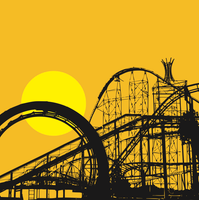 image-free-vector-freebie-roller-coaster- silhouette