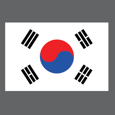 buy vector korean flag image