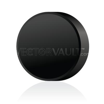 buy vector hockey puck image angled view
