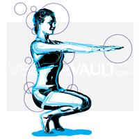 image buy vector yoga posture pose illustration