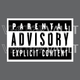 vector parental advisory label
