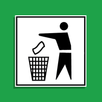 Vector Trash Litter Icon