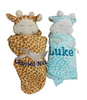 Giraffe napping blankets for twins