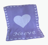 Heart Blanket with Name
