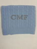 monogram on cashmere baby blanket