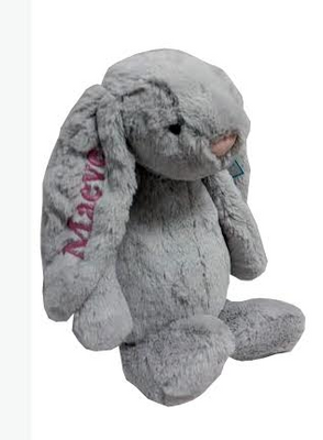 Gray Bashful medium bunny