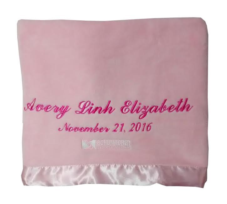Baby Gift Logo : Corporate baby gift logo blanket