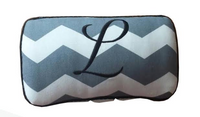 Handcrafted Baby Wipe Case in  Gray Chevron