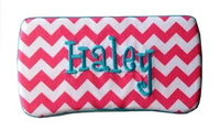 Tangerine chevron wipe case