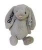 Bashful gray bunny