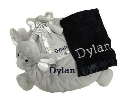 Gray and blue gift set for baby boy