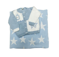 baby star sweater and blanket