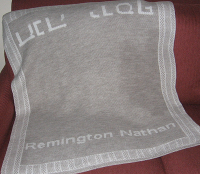 custom gray blanket