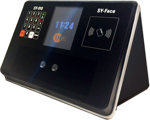 "Eliminate Buddy Punching. The Synel's SY910 Facial Recognition Biometric Time Clock is a complete time attendance system using face recognition technology to instantly identify employees in seconds. It provides a touch-less, hygienic alternative to fingerprint and hand readers, while still eliminating ""buddy punching""."