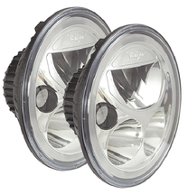 "Vision X XIL-7RDKITJK Vortex 7"" Round LED Headlights Pair in Chrome for Jeep Wrangler JK 2007-2016"