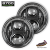 JW Speaker J Series Headlamps in Black Pair with Security Screws