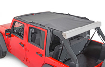 M.O.R.E. Retractable Roller Sun Shade (Wrangler JK 2007+)