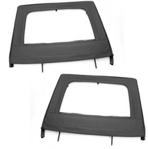 Rugged Ridge Rear Upper Soft Doors- Black- 4 Door (Wrangler JK 2007+)