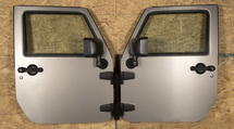 Rugged Ridge 12107.10 Wall Mount Door Holder for Jeep CJ and Wrangler YJ, TJ, JK and JL 1976+