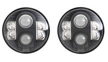 "Pro Comp 76402P Explorer 7"" LED Headlamp Pair for Jeep Wrangler JK 2007-2018"