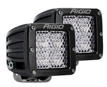 "Rigid Industries D Series Pro 3"" LED Cube Light Pair Diffused Flood Beam Pattern"