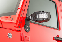 Rigid Industries 64011 Reflect Side Mirrors for Jeep Wrangler JK 2007-2018