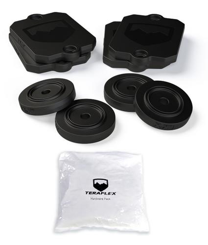 "TeraFlex 1959300  0.5"" Front & Rear Bump Stop Strike Pad Shim Kit for Jeep Wrangler JL 2018+"