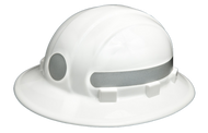 Americana Full Brim Circle - Reflective  Hard Hat -   Silver