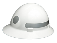 Omega II Full Brim Circle - Reflective  Hard Hat -  Silver/ On Sale