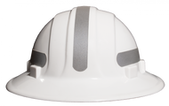 Omega II Full Brim Mohawk - Reflective  Hard Hat -   Silver