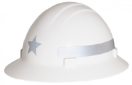 Americana Full Brim Star  - Reflective Hard Hat -  Silver
