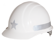 Liberty  Star - Reflective  Hard Hat -  Silver  - On Sale