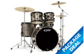 "PDP Mainstage - 5 Piece Kit (22"", 10"", 12"", 16"" + 14"" SNR) with Hardware + Mapex Cymbals + Stool + Evans Head Upgrade Pack"