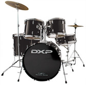 "DXP - 5 Piece Starter Kit (20"", 10"", 12"", 14"", 14"" SNR) With Cymbals, Hardware, Stool & Sticks"