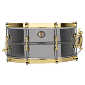 "Ludwig 14 x 6.5"" 110th Anniversary Black Beauty Brass Snare w/ Anniversary Bag"