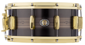 """Ludwig 14 x 5.5"""" Heirloom 110th Anniversary Black Brass Snare 'Laser Etched' w/ Anniversary Bag"""