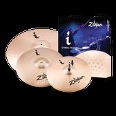 """Zildjian i Series Essentials Plus Cymbal Pack (13"""" Hi-Hats, 14"""" Crash, 18"""" Crash/Ride)"""
