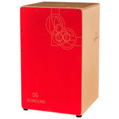 DG Chanela Birch Cajon Double String Removable Snare System - Red