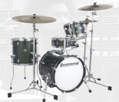 "Ludwig ' Green Sparkle' Breakbeats by Questlove - 4 Piece Kit (16"", 10"", 13"" + 14"" SNR) Shell Set"